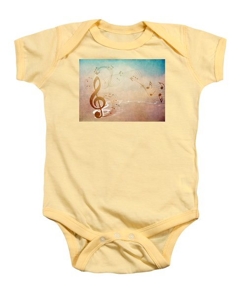 Please Dont Stop The Music Baby Onesie by Angelina Vick