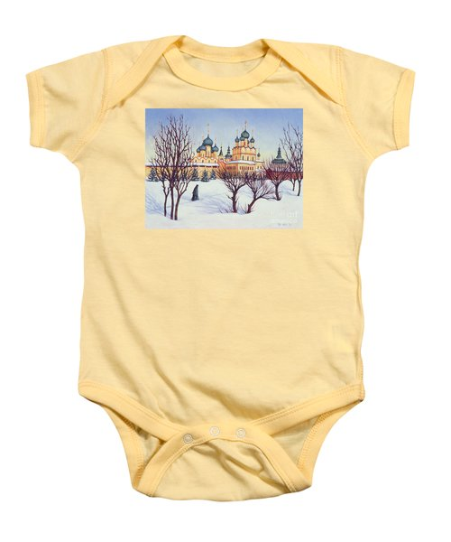 Russian Winter Baby Onesie by Tilly Willis