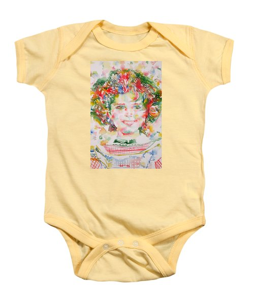 Shirley Temple - Watercolor Portrait.1 Baby Onesie by Fabrizio Cassetta