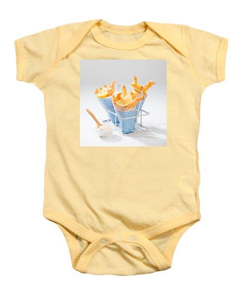 Tempura Prawns Baby Onesie by Amanda Elwell