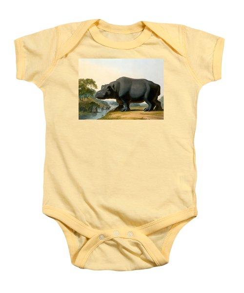 The Hippopotamus, 1804 Baby Onesie by Samuel Daniell
