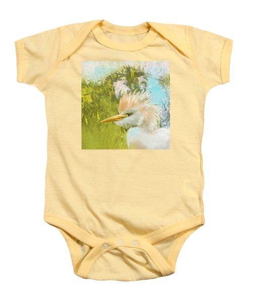 White Kingfisher Baby Onesie by Catf