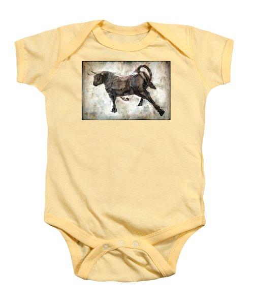 Wild Raging Bull Baby Onesie by Daniel Hagerman