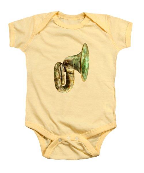 Antique Brass Car Horn Baby Onesie by YoPedro