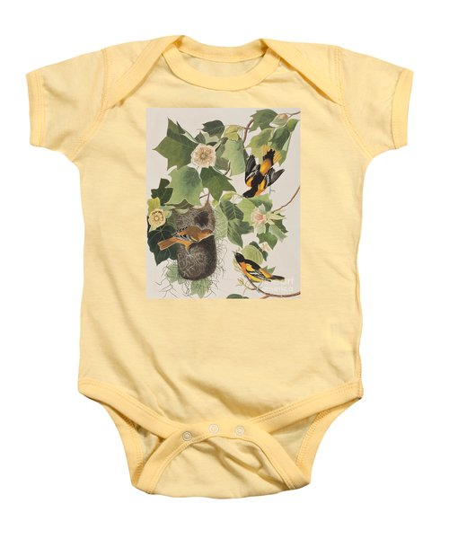 Baltimore Oriole Baby Onesie by John James Audubon
