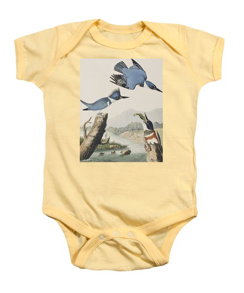 Belted Kingfisher Baby Onesie by John James Audubon