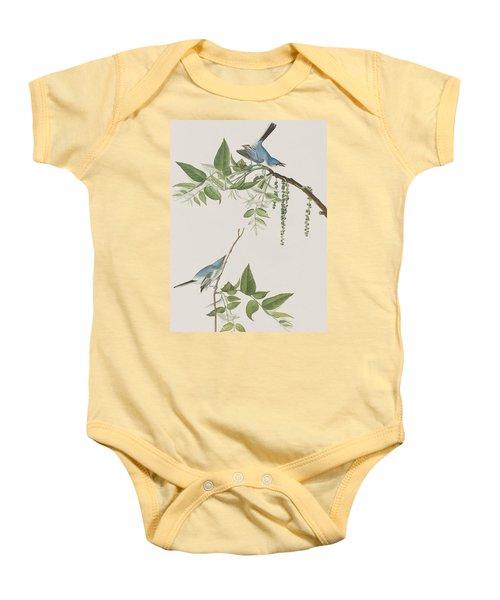 Blue Grey Flycatcher Baby Onesie by John James Audubon
