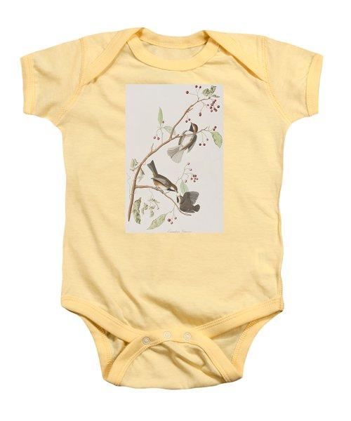 Canadian Titmouse Baby Onesie by John James Audubon