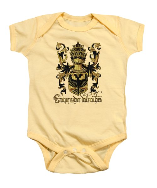 Emperor Of Germany Coat Of Arms - Livro Do Armeiro-mor Baby Onesie by Serge Averbukh