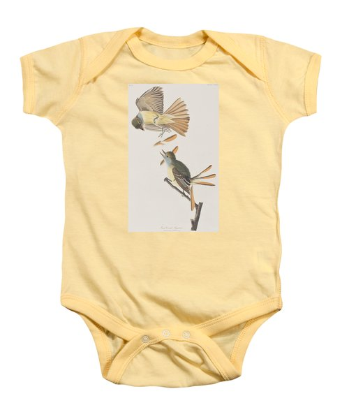 Great Crested Flycatcher Baby Onesie by John James Audubon