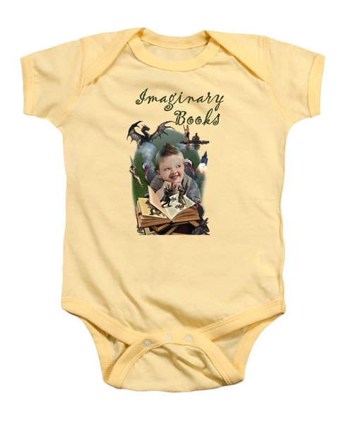 Imaginary Books Baby Onesie by Joseph Juvenal