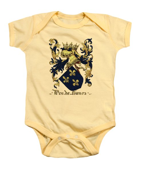 King Of France Coat Of Arms - Livro Do Armeiro-mor  Baby Onesie by Serge Averbukh