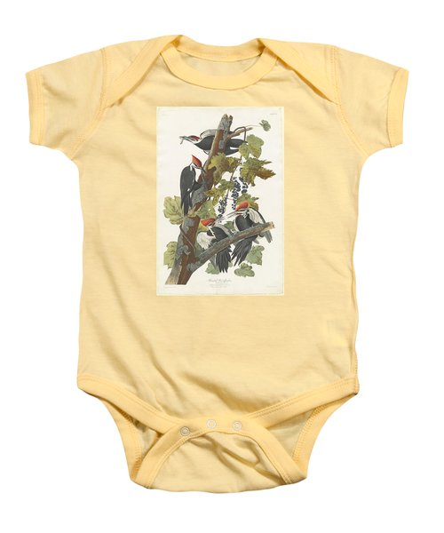 Pileated Woodpecker Baby Onesie by John James Audubon