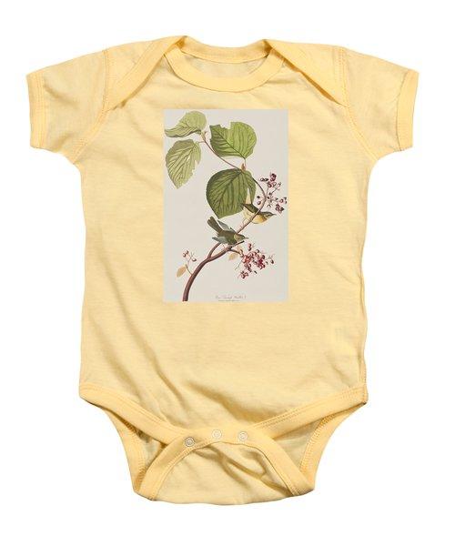 Pine Swamp Warbler Baby Onesie by John James Audubon