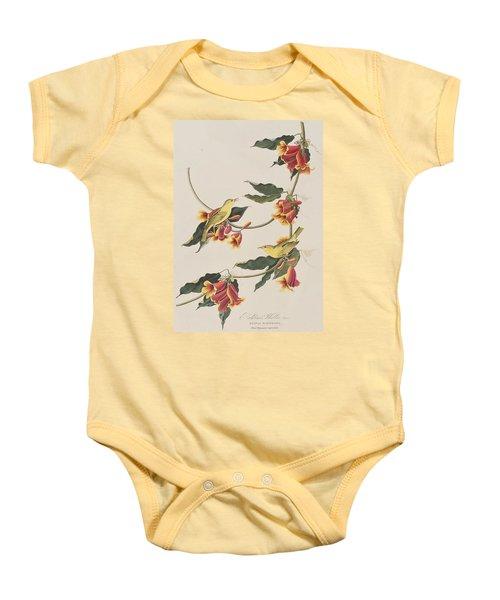 Rathbone Warbler Baby Onesie by John James Audubon