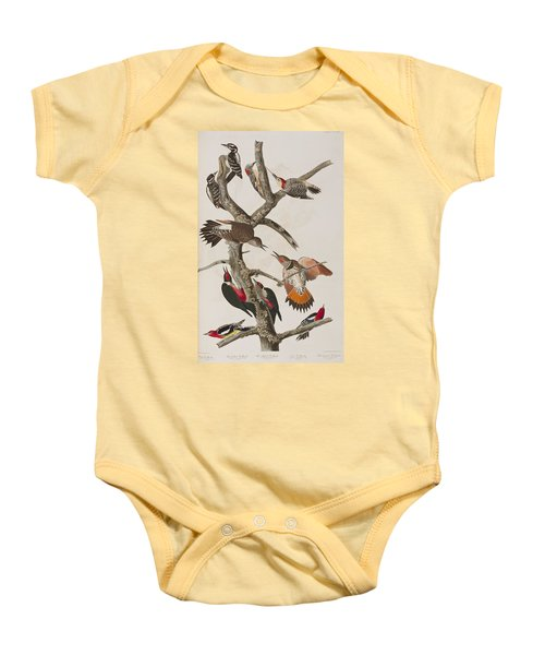 Woodpeckers Baby Onesie by John James Audubon