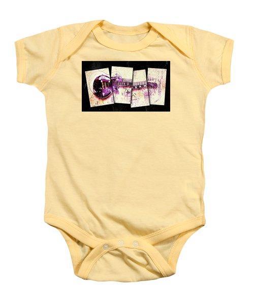 1955 Les Paul Custom Black Beauty V3 Baby Onesie by Gary Bodnar