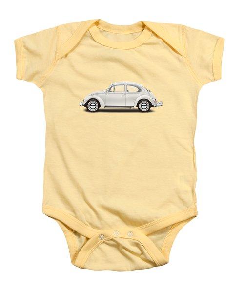 1966 Volkswagen 1300 Sedan - Pearl White Baby Onesie by Ed Jackson