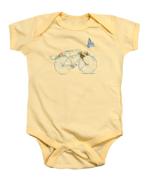 Summer At Cape May - Bicycle Baby Onesie by Audrey Jeanne Roberts