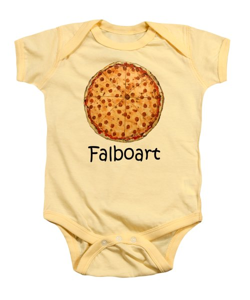 The Big Ass New York Pizza Baby Onesie by Anthony Falbo