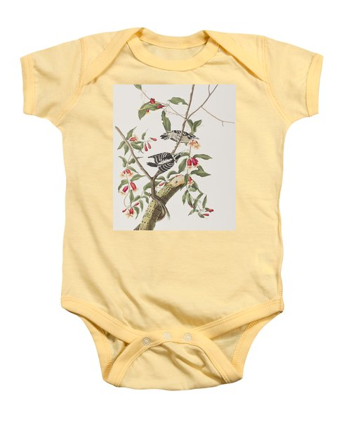 Downy Woodpecker Baby Onesie by John James Audubon
