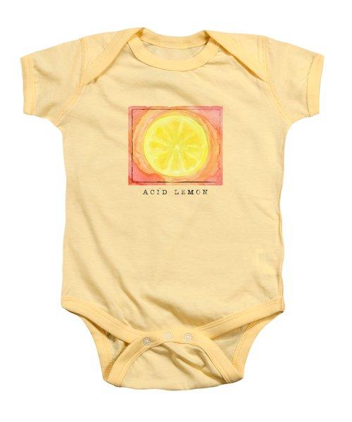 Acid Lemon Baby Onesie by Kathleen Wong