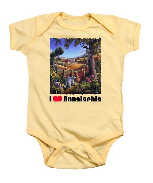 Amish Country - Coon Gap Holler Country Farm Landscape Baby Onesie by Walt Curlee