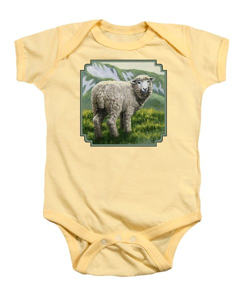 Highland Ewe Baby Onesie by Crista Forest