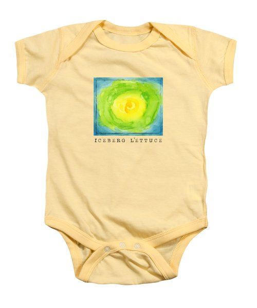 Abstract Iceberg Lettuce Baby Onesie by Kathleen Wong