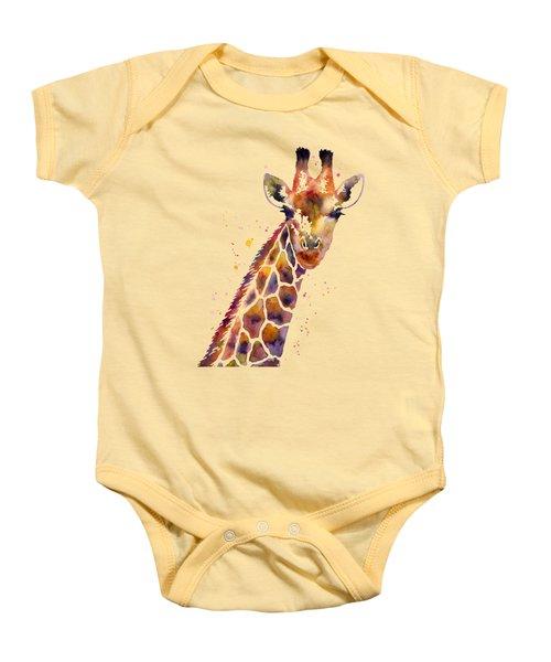 Giraffe Baby Onesie by Hailey E Herrera
