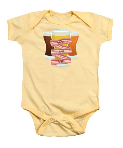 Bacon And Beer Baby Onesie by Renato Kolberg