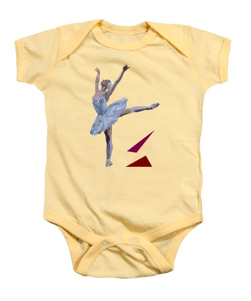Ballerina Dancing Swan Lake Baby Onesie by James Bryson
