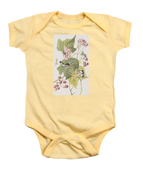 Black And Yellow Warblers Baby Onesie by John James Audubon