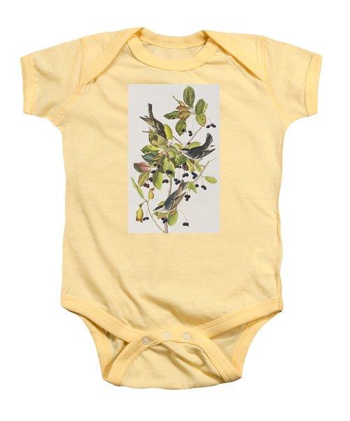 Black Poll Warbler Baby Onesie by John James Audubon