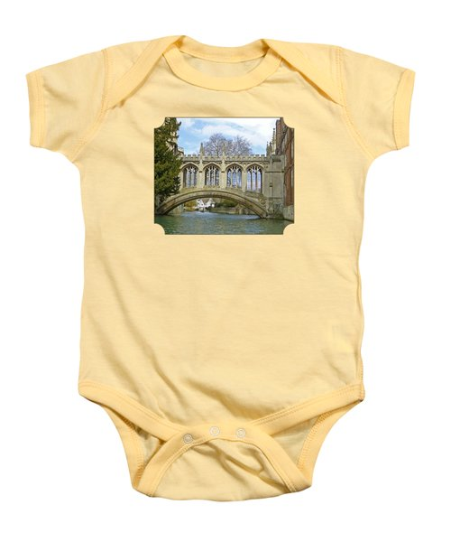 Bridge Of Sighs Cambridge Baby Onesie by Gill Billington