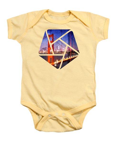 City Art Golden Gate Bridge Composing Baby Onesie by Melanie Viola