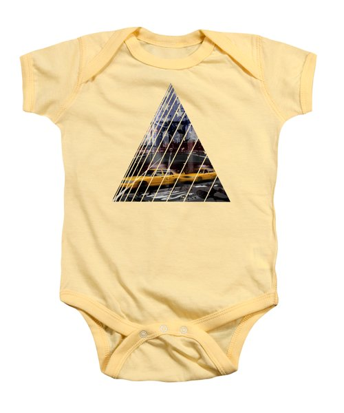 City-art Nyc Composing Baby Onesie by Melanie Viola