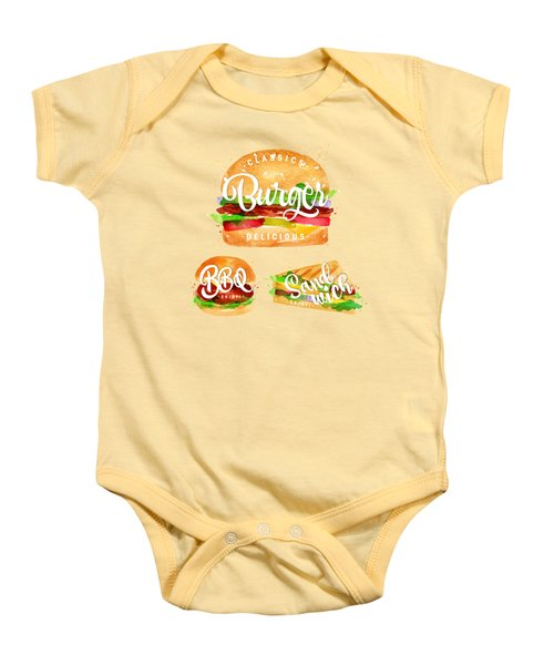 Color Burger Baby Onesie by Aloke Design