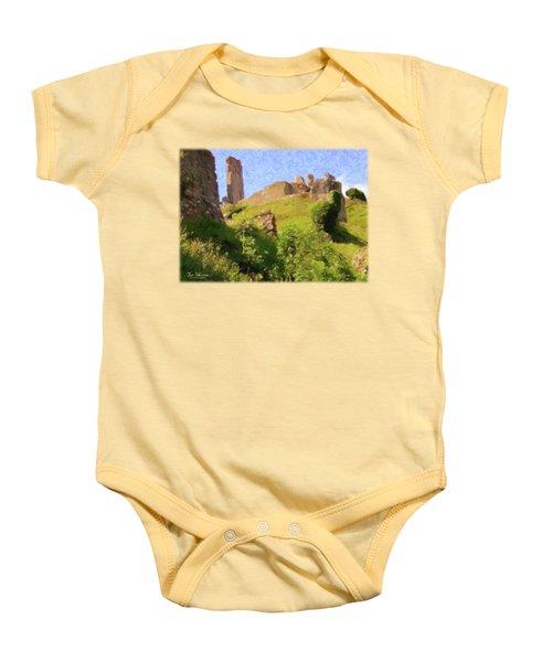 Corfe Castle Baby Onesie by Jon Delorme