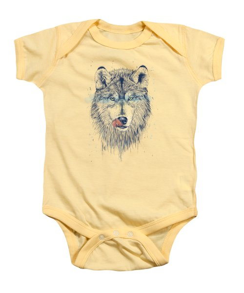 Dinner Time Baby Onesie by Balazs Solti