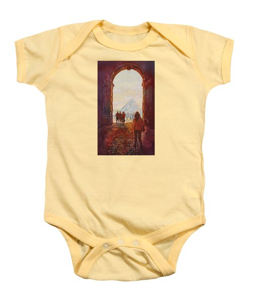 Evening At The Louvre Baby Onesie by Jenny Armitage