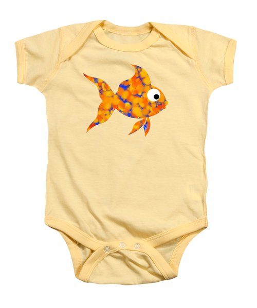 Fancy Goldfish Baby Onesie by Christina Rollo