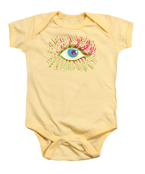 From Looking Psychedelic Eye Baby Onesie by Boriana Giormova