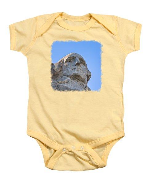 George Washington 3 Baby Onesie by John M Bailey