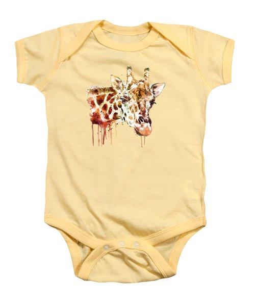 Giraffe Head Baby Onesie by Marian Voicu