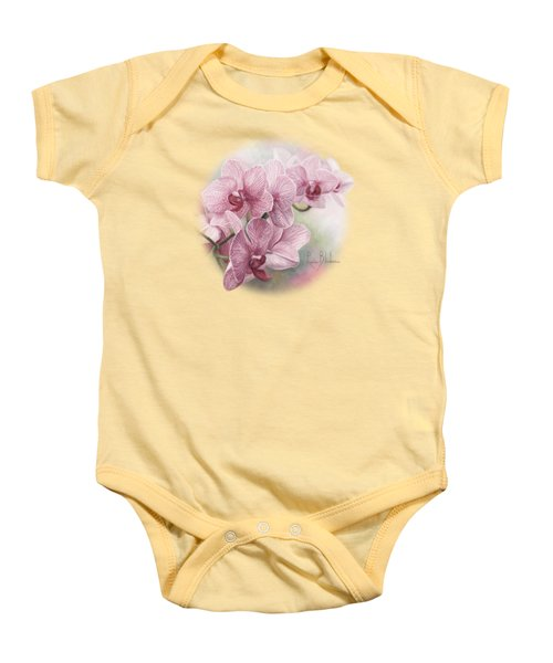 Graceful Orchids Baby Onesie by Lucie Bilodeau