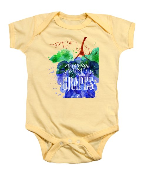Grapes Baby Onesie by Aloke Design