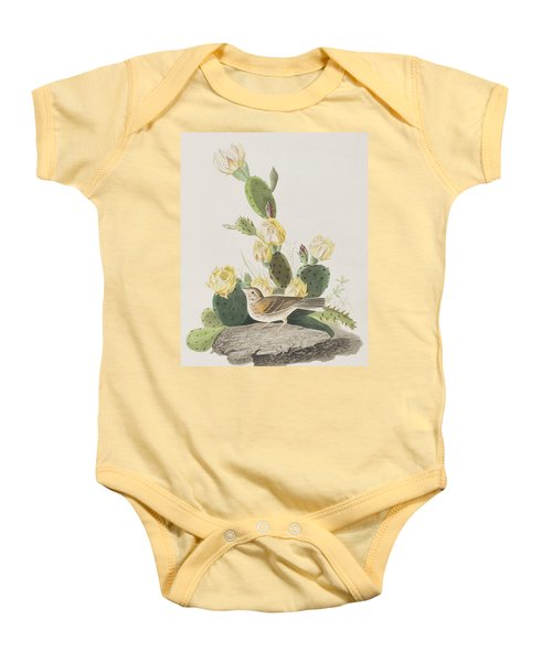 Grass Finch Or Bay Winged Bunting Baby Onesie by John James Audubon