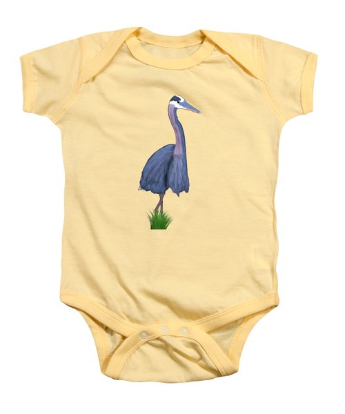Great Blue Heron Impression Baby Onesie by Endora TwinkLens