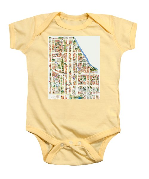 Harlem From 110-155th Streets Baby Onesie by Afinelyne